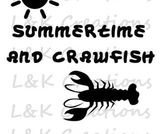 """Vector Image """"Summertime and Crawfish"""""""