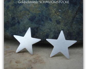 Earrings - stars - handmade of 925 Silver