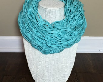 Hand Knitted Cotton T-Shirt Scarf