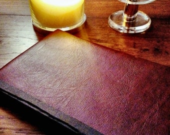 Faux Red Leather Journal