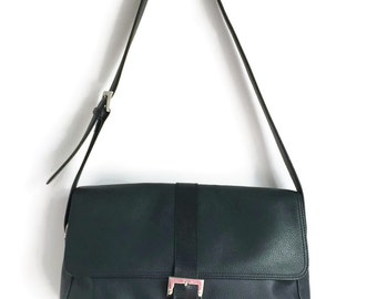Longchamp Navy Blue Shoulder Bag - Classic and Elegant, Longchamp Saddle Bag, Longchamp Shoulder Bag, Navy Blue Leather Bag, Navy Blue Purse