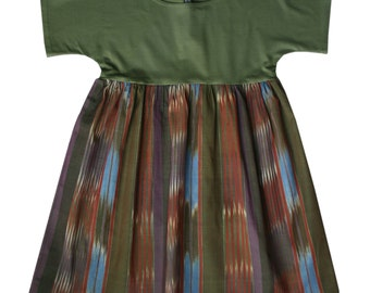 ROMA olive jersey and ikat
