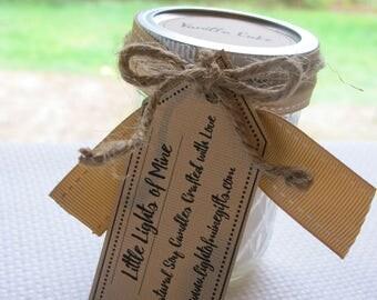 All Natural Soy Candles: Vanilla Cake