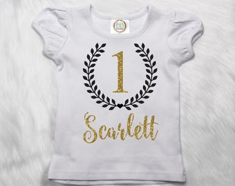 First Birthday Shirt, Personalized Birthday Shirt, Name Birthday Shirt, Birthday Outfit, 1st Birthday, 2nd Birthday, Number Shirt P70