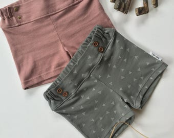 TODDLER/CHILD Buttons or Rivets Shorts - Girl - 64 colors/prints to choose from!!!