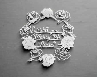 Will you marry me? Marriage proposal papercut, handcut, personalised paper cut, handmade, wedding, engagement