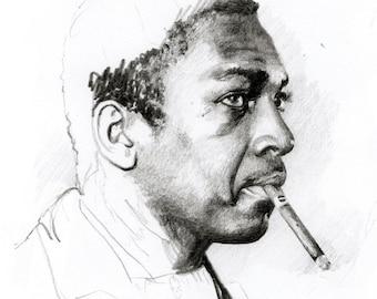 John Coltrane with the cigar