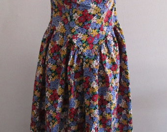 Vintage 80s Womens To Be Seen Floral Strapless Dress