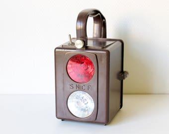 French Train Lamp // Station Lantern // SNCF Lantern // Industrial Lamp // Loft Lamp // Vintage Lantern