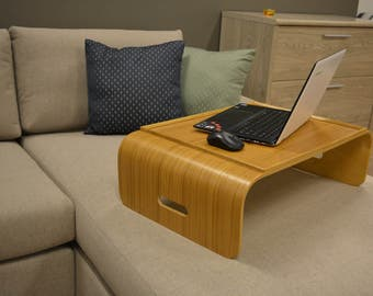 Laptop desk, breakfast tray, Small wood desk, Lap tray, Bed tray, Wooden bed table, Small table