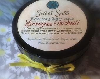 Sweet Sass Exfoliating Sugar Scrub (Lemongrass & Patchouli)