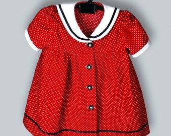 Sailor baby dress