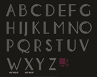 Elegant bolder letters Alphabet digital download, svg, eps, studio3, png, dxf rhinestone template