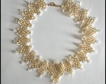 Gold-and-white Baroque necklace