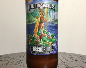 Recycled Beer Bottle Candle - Archdruid from Clown Shoes - Peppermint