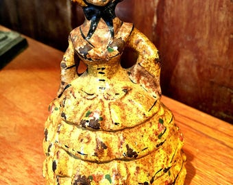 Cast Iron Victorian Lady in Dress