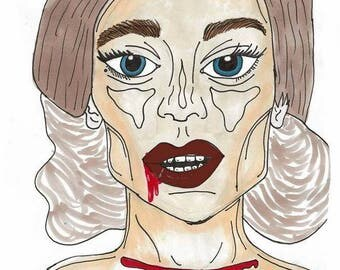 Lady Gaga Countess Art Print