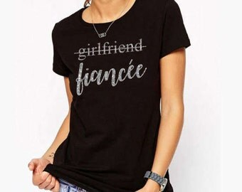 Upgraded from Girlfriend to Finacee fitted T-shirt