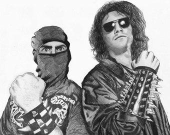 Ninja Sex Party Realism Drawing