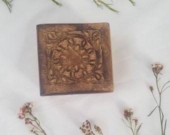 Jewellery Box // Hand Crafted Mandala Timber
