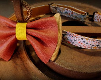 Bow tie, bow tie, vintage leather and jeans