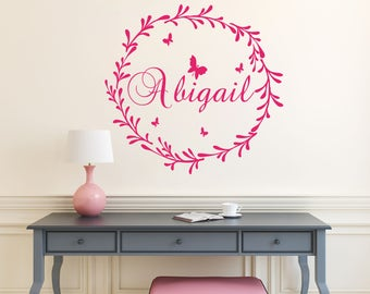 Name Personalized Wall Decal  Rustic Nursery Decal  Name Vinyl Decal  Girl Name Wall Decal Rustic Wall Decal  Girl Nursery Decal  S31
