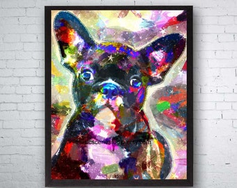 French Bulldog, French Bulldog Gifts, Dog Bulldog, Bulldog Puppy, Bulldog Lover, Dog Lover Gift, Bulldogs, Dog Pop Art, French Bulldog Print