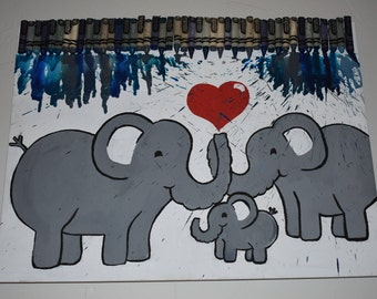 Loving Elephant Family