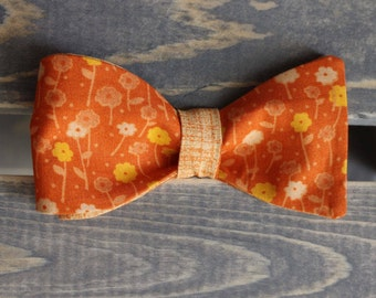 Orange Reversable Bow Tie - Self Tie Bow Tie - Mens Formalwear