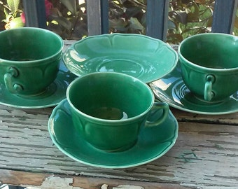Mt. Clemens teacups and saucers
