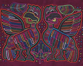 Kuna Mola Print - Mola Print Birds - Original Mola