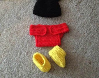 Crochet Mickey Mouse Newborn Set