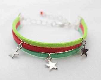 Suede - star bracelet