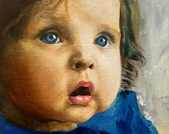 "Custom Portrait (6""x 6"", Oil Painting)"