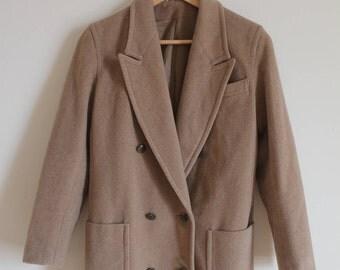Vintage  Camel Wool and Cashmere Coat