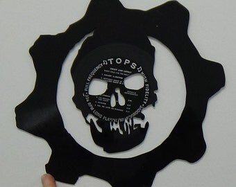 Vinyl Wall Hanging with Gears Video Game Symbol