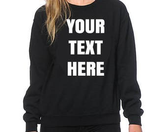 Personalized custom crewneck sweatshirt, Sweater size S-3XL adult, youth- toddler all colours perfect gift for any events image and letters!