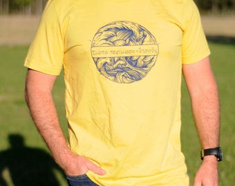 Peace Be Still --- Color: Maize Yellow --- Graphic Screen Printed T-Shirt