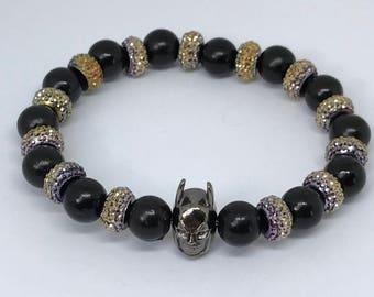 Black and Gold Batman Bracelet