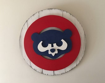 Chicago Cubs 3D Vintage Wood Sign