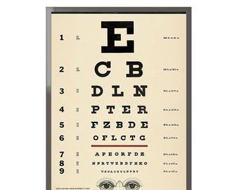 Eye Chart Framed Art