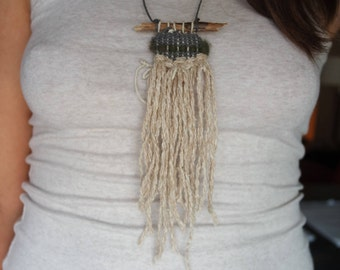 Woven necklace | wearable weaving | mini weaving