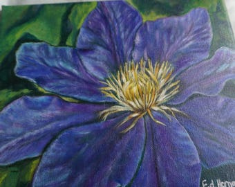 Clematis Acrylic Painting