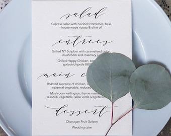 Wedding Menu 5 Printable