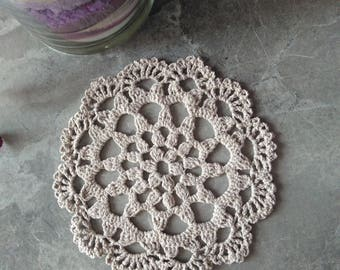 Linen crochet Doily Vintage look hand crochet handmade table mats Sweet gift for Mom, someone special or anyone who loves vintage doilies