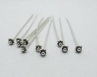 50mm Long Headpin 925 Sterling Silver 20 Gauge Wire
