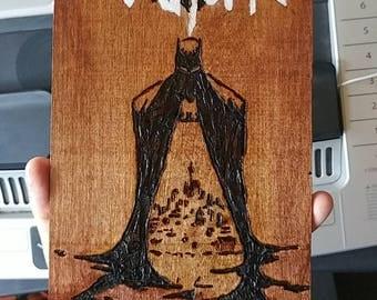 Custom Comic Book Cover Wood Burning