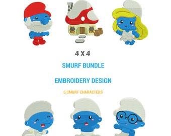 Smurfs Embroidery Design | Smurfs Machine Embroidery Design | Smurfs Full Filled Embroidery | Smurfs Embroidery Pattern | Smurfs Family