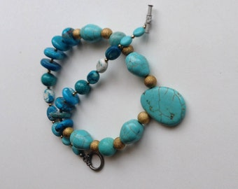 Hand made turquoise necklace