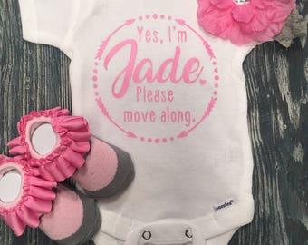 custom onesie, newborn onesie, baby gift, personalized onesie, delivery onesie